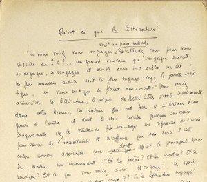 Ecritures de Sartre manu-300x264